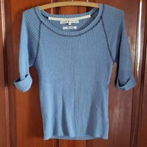 Tommy Hilfiger Blue 3/4 Sleeve Sweater SP